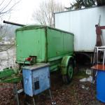 Generator und Bauwagen
